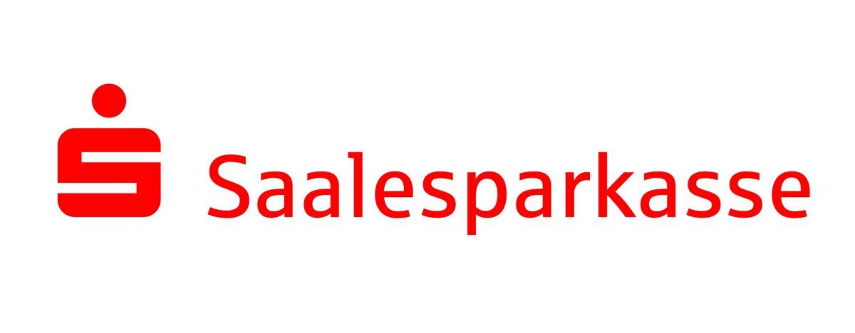 Logo der Saalesparkasse mit Sparkassen-S und Namenszug